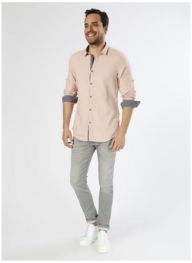 Koton Koton Slim Fit Yavruağzı Gömlek Pembe